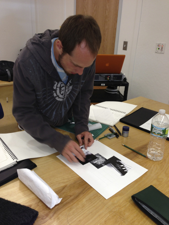 Ryan working on design