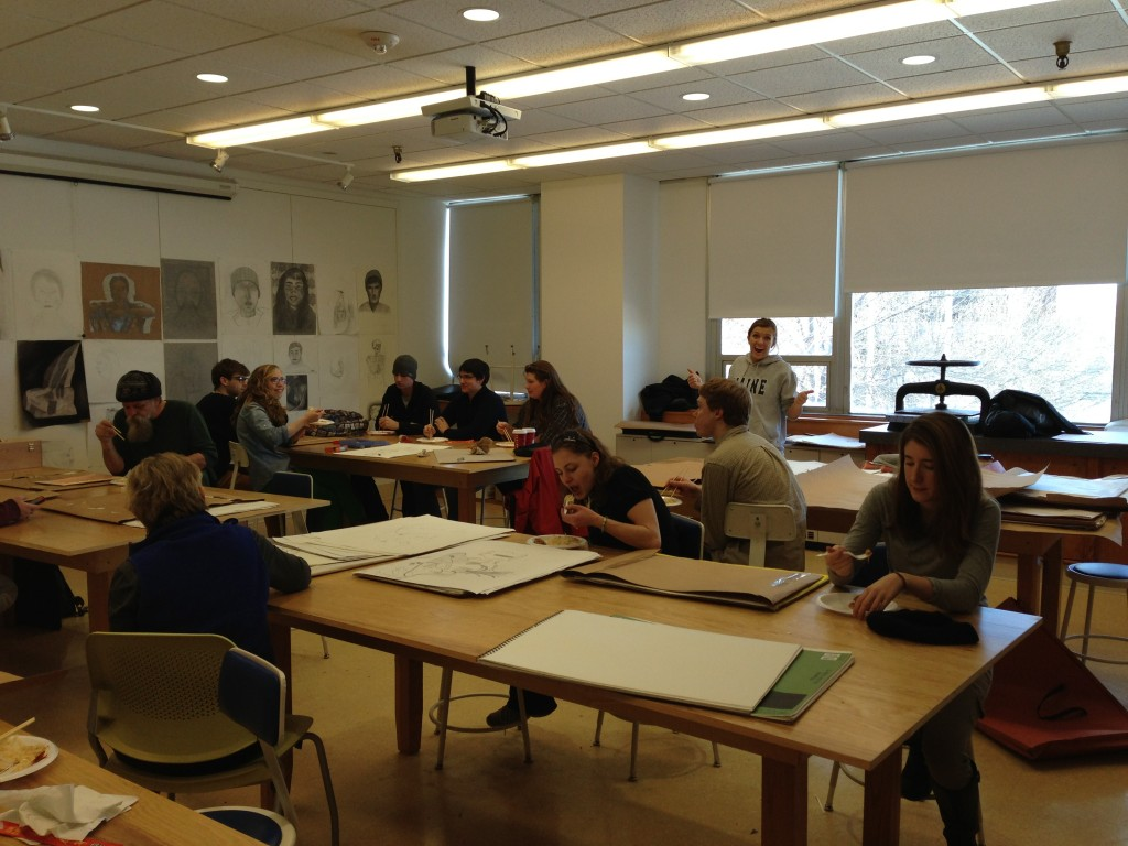 Drawing I class. University of Southern Maine