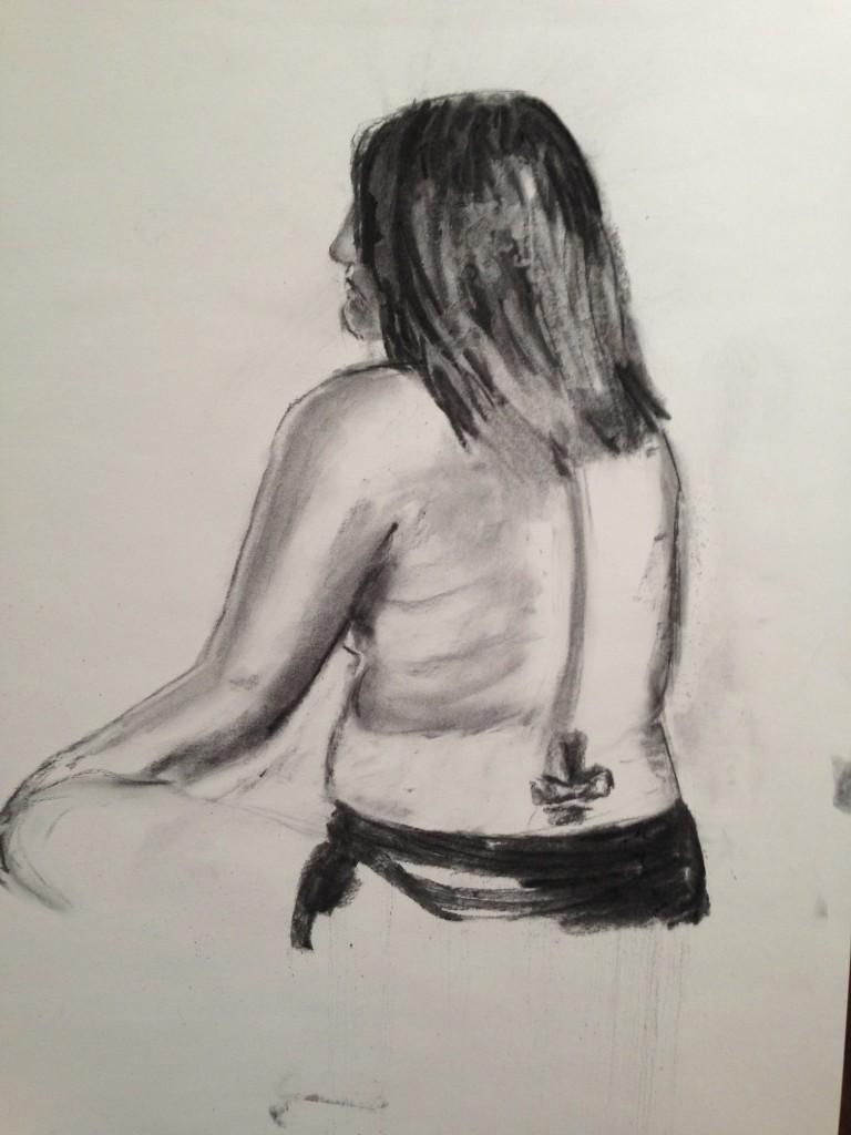 Charcoal stick drawing 3