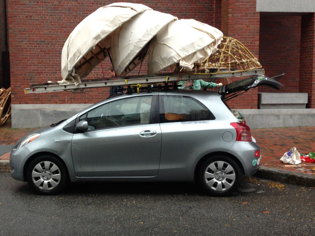 Coracles on the car