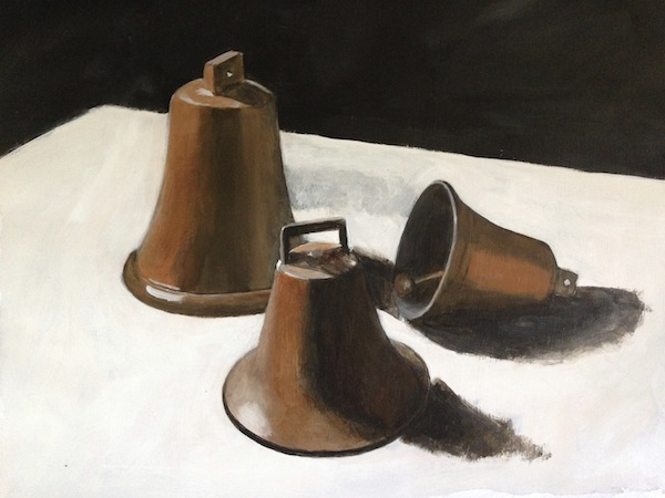 Painting of three bells