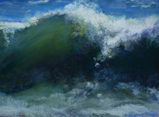 Pastel of waves