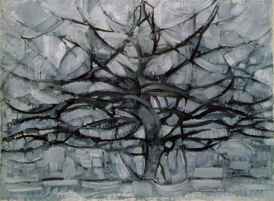 The Gray Tree by Mondrian