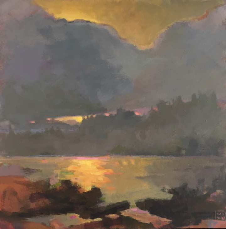 Mary Brooking painting