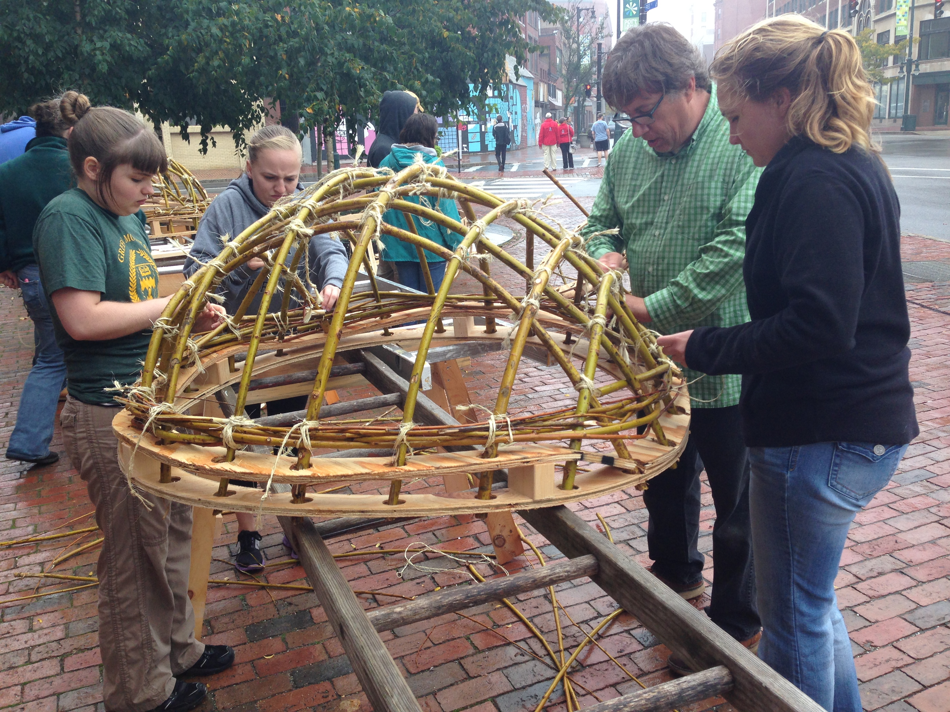 Making a coracle