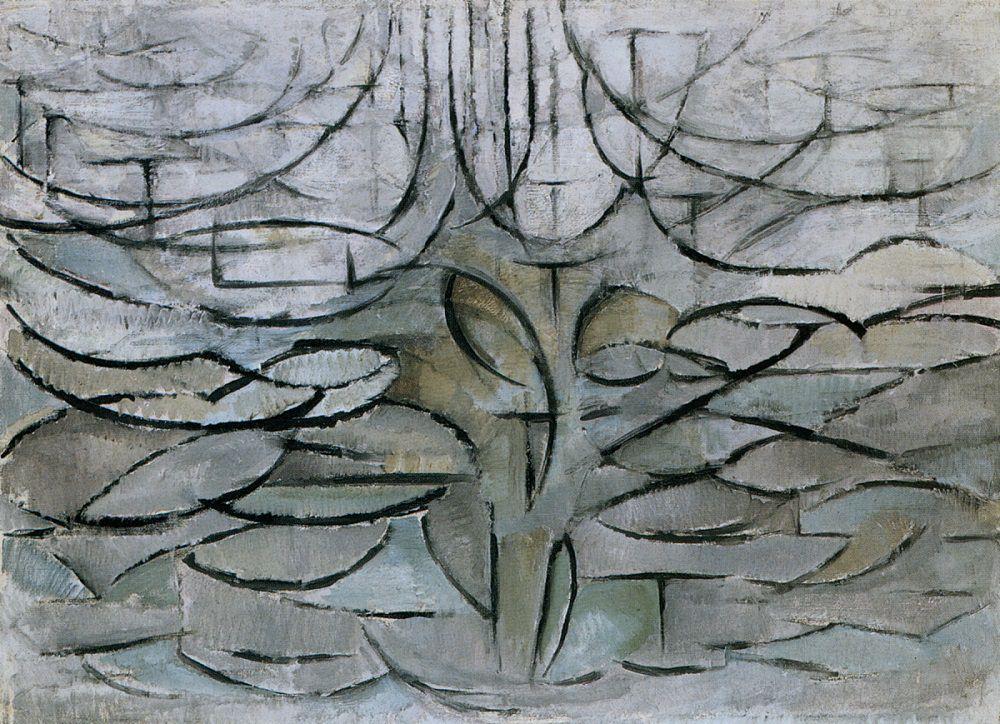 Flowering Apple Tree by Mondrian
